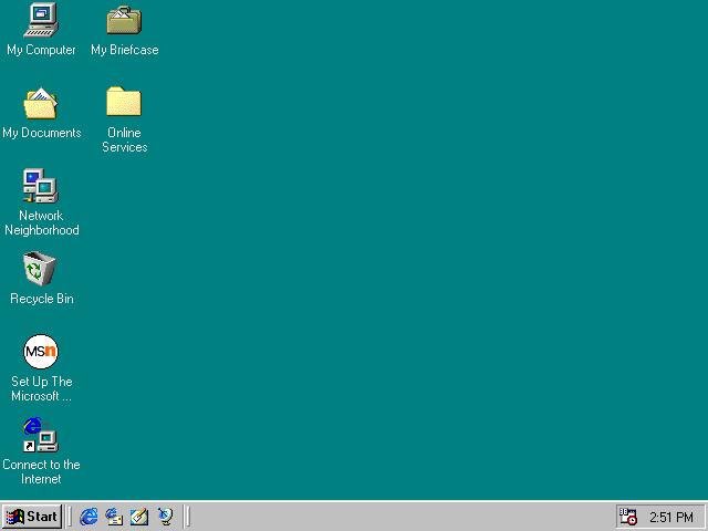 Windows 98 desktop